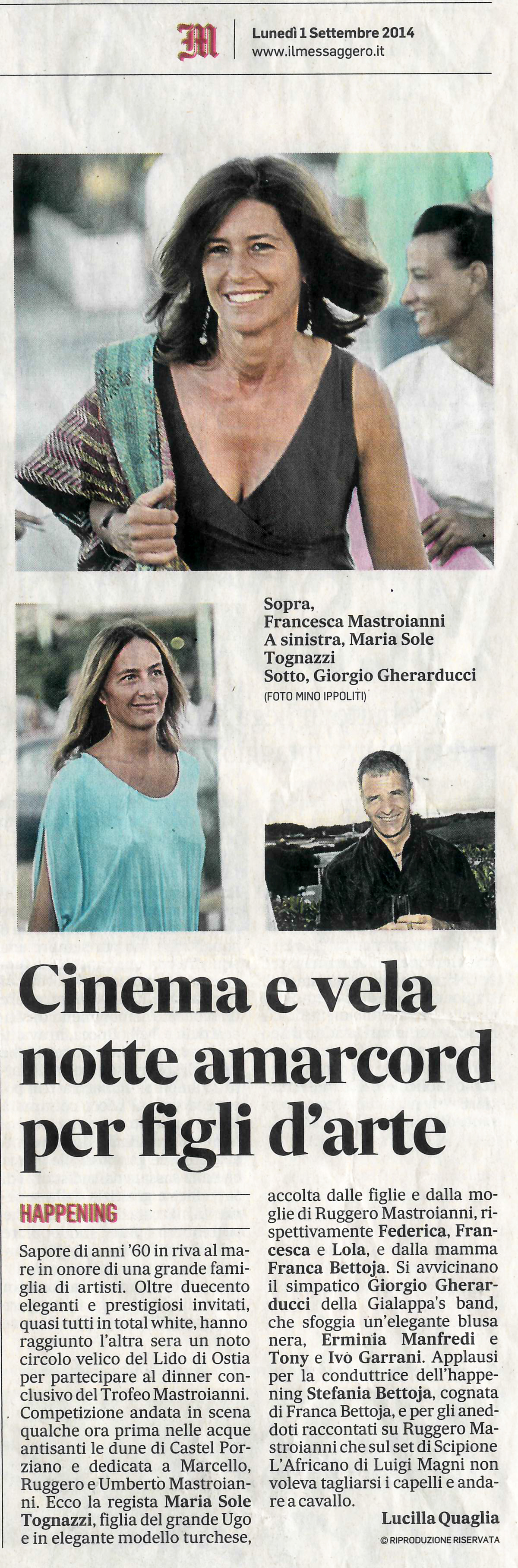 il messaggero - cinema e vela